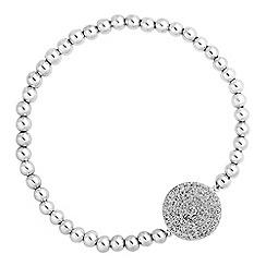 Simply Silver - Sterling silver pave disc bracelet