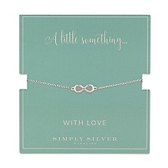 Simply Silver - Sterling silver infinity bracelet