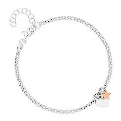 Simply Silver - Sterling silver heart popcorn bracelet