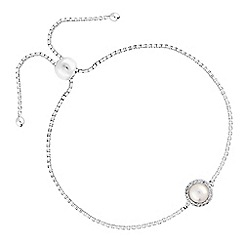 Simply Silver - Sterling silver pearl halo bracelet