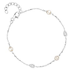 Simply Silver - Sterling silver cubic zirconia and pearl bracelet