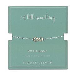Simply Silver - Sterling silver multi tone infinity bracelet