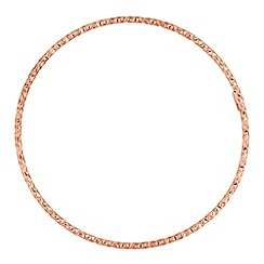 Simply Silver - 14ct rose gold plated sterling silver textured bangle