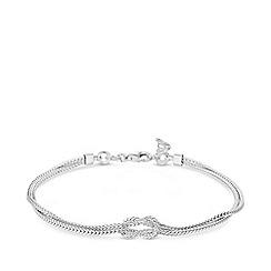 Simply Silver - Sterling silver 925 silver knot bracelet
