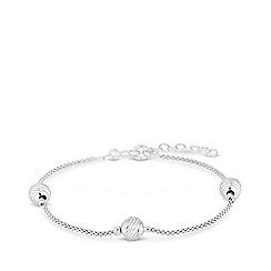 Sterling Silver Silver Bracelets Women Debenhams