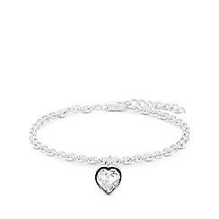 Simply Silver - Sterling silver 925 white swarovski heart bracelet