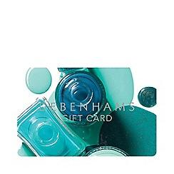 Debenhams - Green Beauty Gift Card