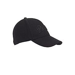 Miss Selfridge - Pineapple black baseball cap