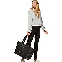 Miss Selfridge - Black quilt tote bag