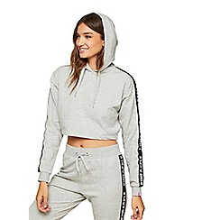 Miss Selfridge - Pineapple grey mono elastic hoody