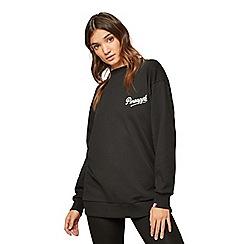 Miss Selfridge - Pineapple black oversized sweatshirt