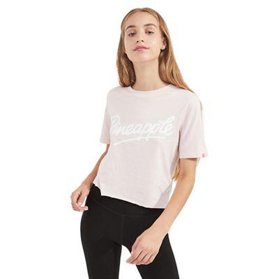 Miss Selfridge   Pineapple Pink Cropped T Shirt by Miss Selfridge
