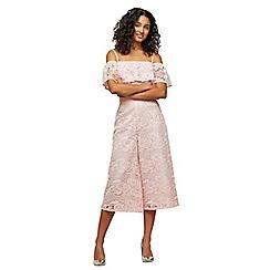 Miss Selfridge - Pink wide leg trousers