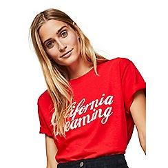Miss Selfridge - Red california dreaming t-shirt