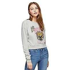 Miss Selfridge - Tiger stud sweatshirt