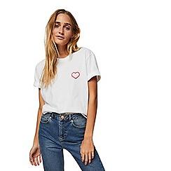 Miss Selfridge - White baby girl slogan t-shirt
