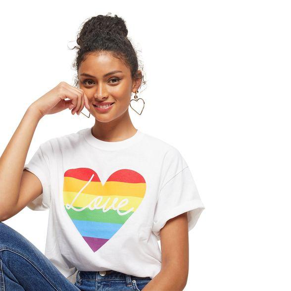 t slogan Miss Selfridge love' shirt rainbow UOUxwq