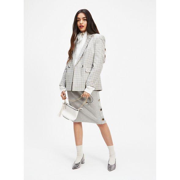 Selfridge Grey skirt pencil button Miss BdAxq5B