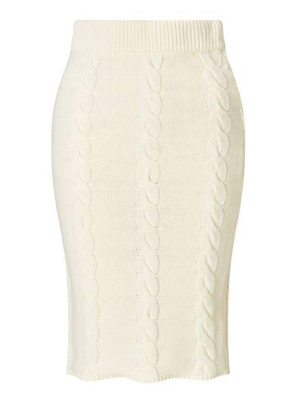 midi Miss cable skirt pencil Selfridge Cream qqFfwvt