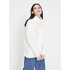 Miss Selfridge - Cream cosy roll neck jumper