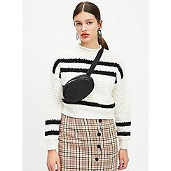 Miss Selfridge - Cream textured stripe jumper