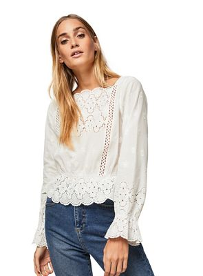 Miss Selfridge   Ivory Isabel Lace Blouse by Miss Selfridge