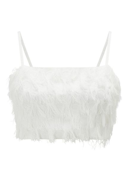 Miss Selfridge cropped top camisole Fringe wBH4AS