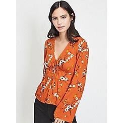 Miss Selfridge - Cinnamon ditsy blouse