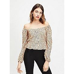 Miss Selfridge - Multi smudge spot print blouse