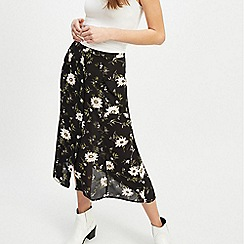 Miss Selfridge - Green Ditsy Print Pocket Midi Skirt c90c09867