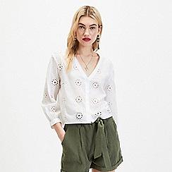 Miss Selfridge - White Broderie Shirt