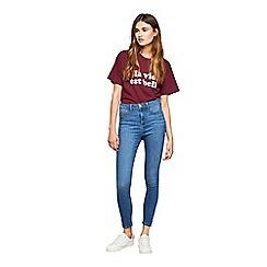 Miss Selfridge - Blue super high waist jeggings