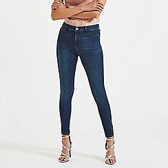 Miss Selfridge - Steffi super high waist dark blue jeggings