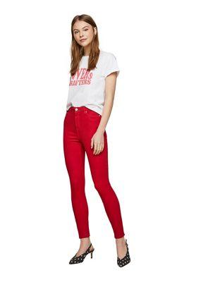 Miss Selfridge   Red Skinny Lizzie Jeans by Miss Selfridge