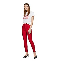 Miss Selfridge - Red skinny lizzie jeans