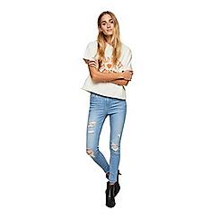 Miss Selfridge - Light blue ripped lizzie jeans