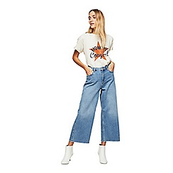 Miss Selfridge - Mid authentic cropped wide leg jeans