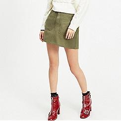 Miss Selfridge - Khaki cargo pocket mini skirt