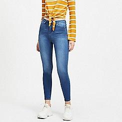 Miss Selfridge - Lizzie High Waist Super Skinny Mid Blue Jeans