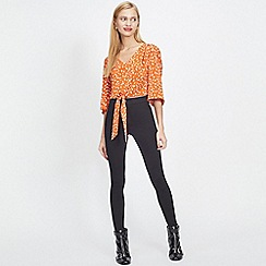 Miss Selfridge - Steffi super high waist soft skinny black jeggings