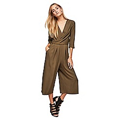 Miss Selfridge - Khaki twist jumpsuit