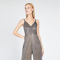 Miss Selfridge - Metallic glitter strappy jumpsuit