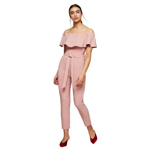 Miss Selfridge Bardot jumpsuit jumpsuit Bardot Selfridge frill Miss Miss frill wxYpTIqvn1