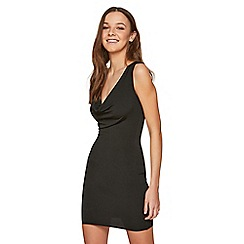 Miss Selfridge - Black cowl neck dress