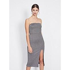 Miss Selfridge - Glitter bandeau pencil dress