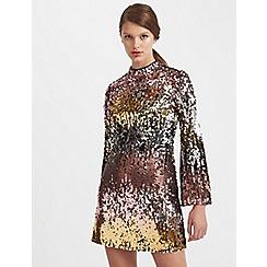 Miss Selfridge - Ombre sequin mini dress