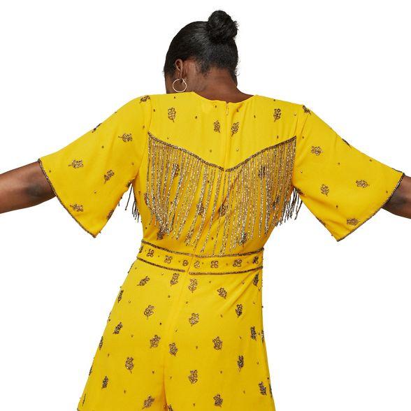 Miss embellished playsuit Selfridge playsuit Ochre Miss Ochre Selfridge embellished Miss g1Twrx8gq