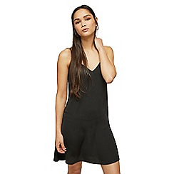 Miss Selfridge - Black mini slip dress