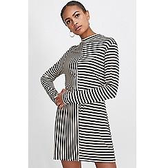 Miss Selfridge - Cut about stripe mini dress