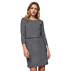 Miss Selfridge - Double layer checked dress